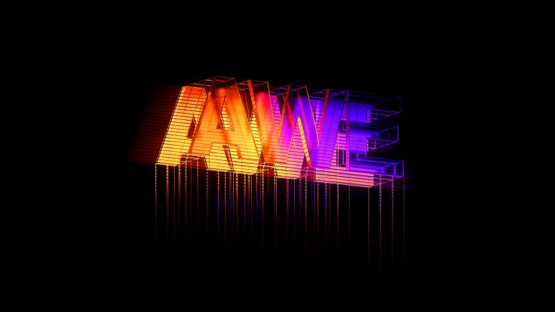 Neon sign, Colorful, Black background, AMOLED, Neon typography, Wallpaper