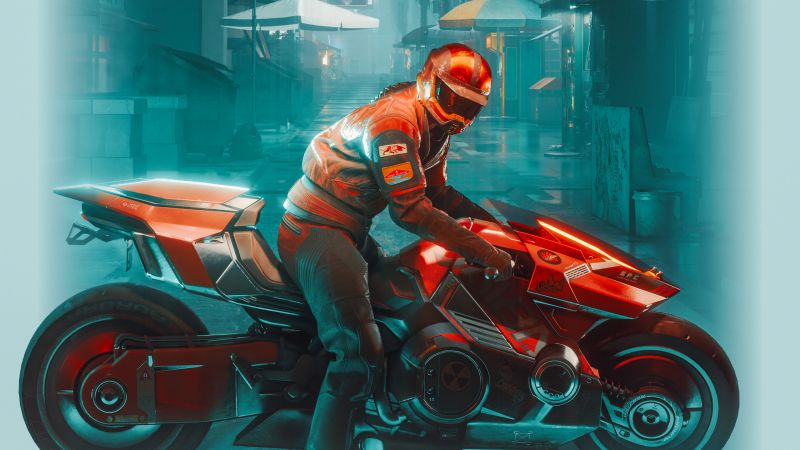 Yaiba Kusanagi CT-3X, Cyberpunk 2077, Cyberpunk bike, 2021 Games, Wallpaper
