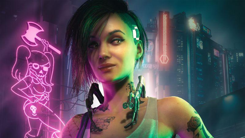 Judy Alvarez, Cyberpunk 2077, Cyberpunk girl, 2021 Games, Wallpaper