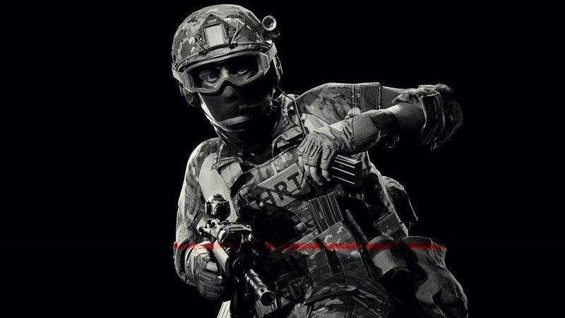 Ready Or Not, SWAT, FBI, Police, Black background, 5K, Wallpaper