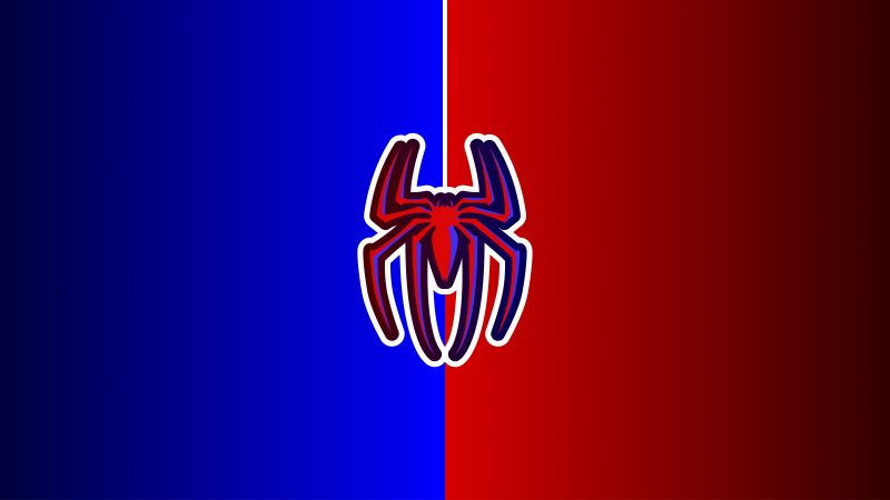 Spider-Man, Logo, Red background, Minimal art, Marvel Superheroes, 5K, 8K, 12K, Wallpaper