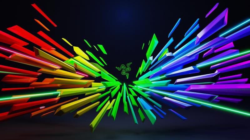 Razer, Multicolor, Scatter, Neon, Wallpaper