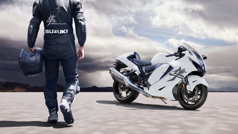 Suzuki Hayabusa, Biker, 2022, 5K, Wallpaper