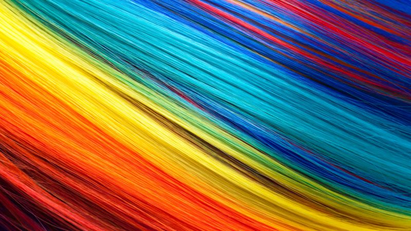 Threads, Multicolor, Texture, Colorful background, 5K, Wallpaper