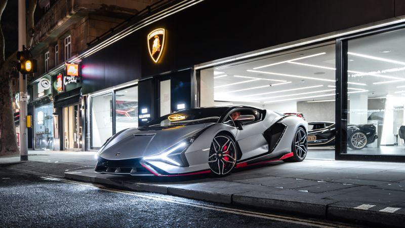 Lamborghini Sián FKP 37, 2021, 5K, Wallpaper