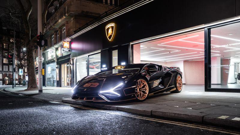 Lamborghini Sián FKP 37, 2021, 5K, 8K, Wallpaper
