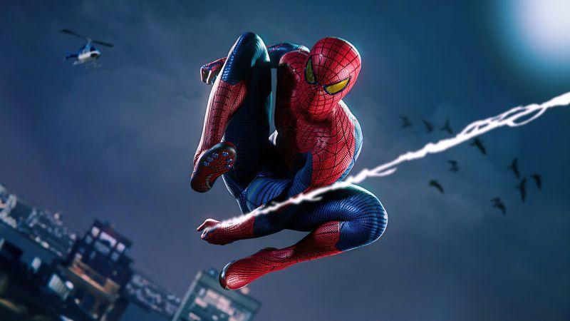 Marvel's Spider-Man, Remastered, 2021 Games, PlayStation 5, 5K, Wallpaper