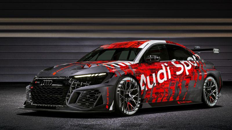 Audi RS 3 LMS, 2021, 5K, Wallpaper