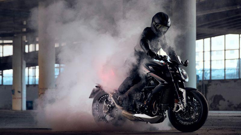 MV Agusta Dragster RR, 2021, Sports bikes, Biker, Wallpaper