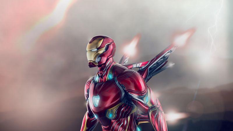 Iron Man, Avengers: Endgame, Marvel Superheroes, Marvel Comics, Wallpaper