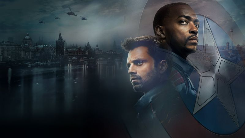 The Falcon and the Winter Soldier, TV series, Bucky Barnes, Sam Wilson, Sebastian Stan, Anthony Mackie, 2021 Movies, Wallpaper