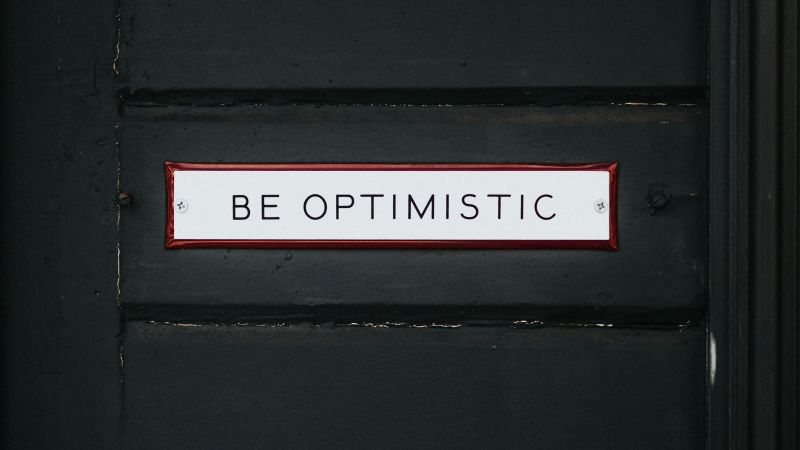 Be Optimistic, Inspirational quotes, Dark background, Wooden Door, Motivational, Wallpaper