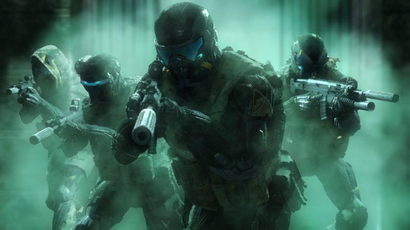 Crysis, Cloak Engaged, Warface, Shooter, Video Game, Fire Team, Nanosuit, Smoke, Wallpaper