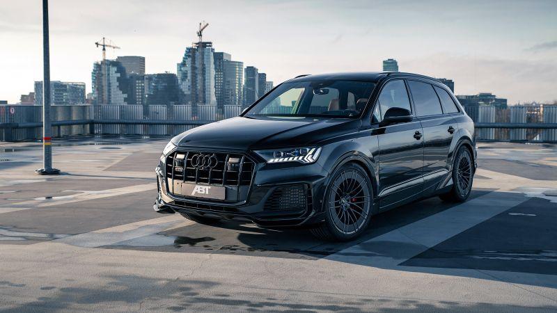 ABT Audi SQ7 TFSI Widebody, Black cars, 2021, Wallpaper