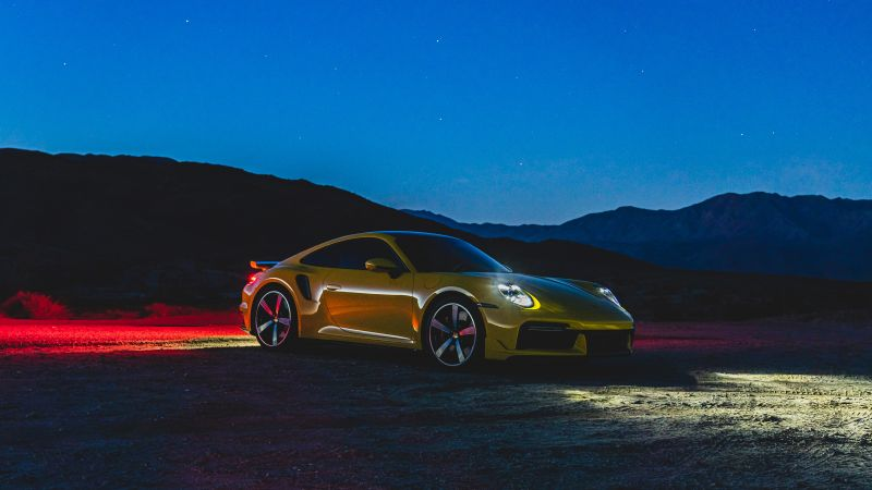 Porsche 911 Turbo, Night, 5K, 8K, 2021, Wallpaper