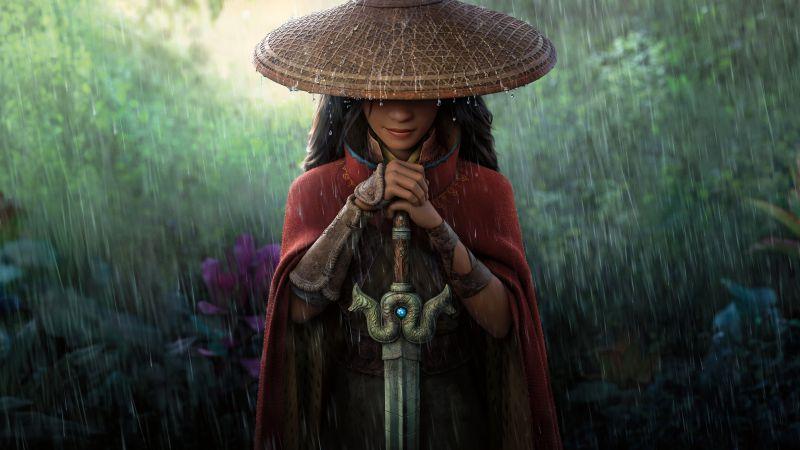 Raya and the Last Dragon, 2021 Movies, Animation, 5K, 8K, Wallpaper