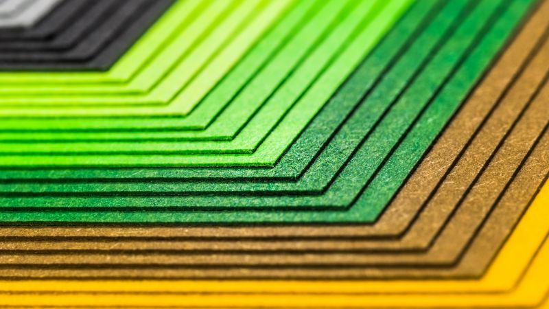Color Papers, Colourful, Multicolor, Stationery, Texture, Pattern, Paper Stack, Selective Focus, 5K, Wallpaper