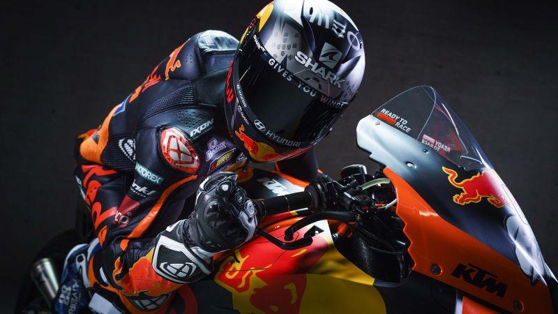 KTM RC16, MotoGP bikes, Red Bull Racing, Biker, 2021, Wallpaper