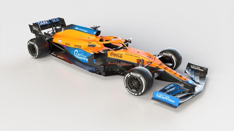 McLaren MCL35M, Formula One cars, Formula 1, White background, 2021, Wallpaper