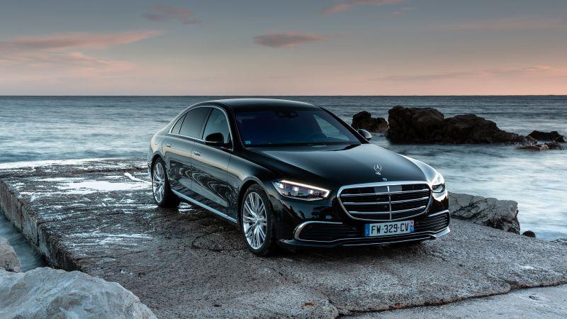 Mercedes-Benz S 400 d 4MATIC, 2021, Wallpaper