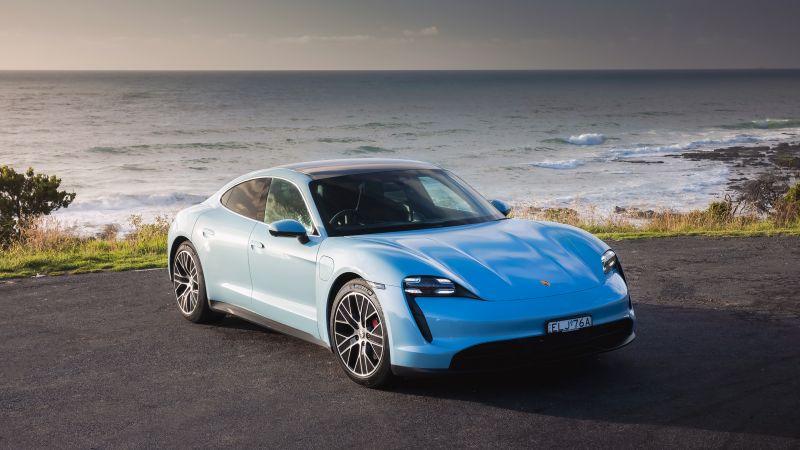 Porsche Taycan 4S, 2021, Wallpaper