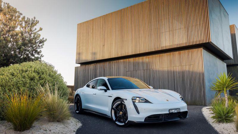 Porsche Taycan Turbo S, 2021, Wallpaper