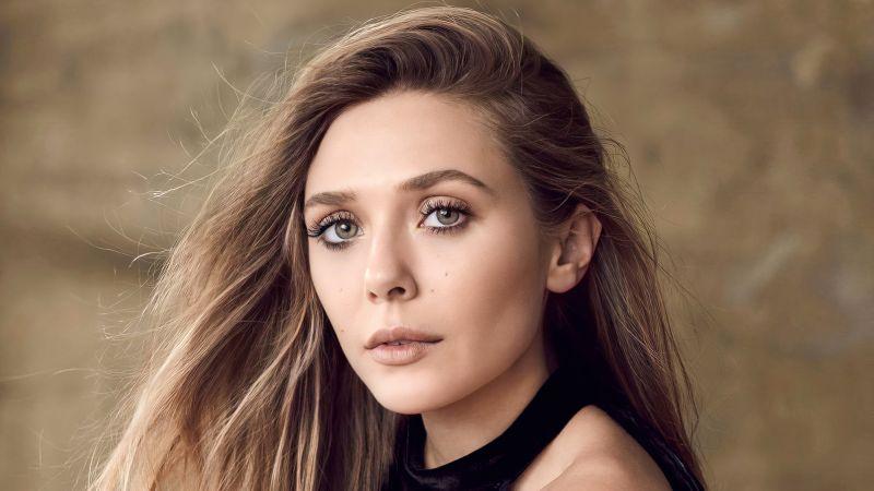 Elizabeth Olsen, Beautiful actress, Portrait, 5K, Wallpaper