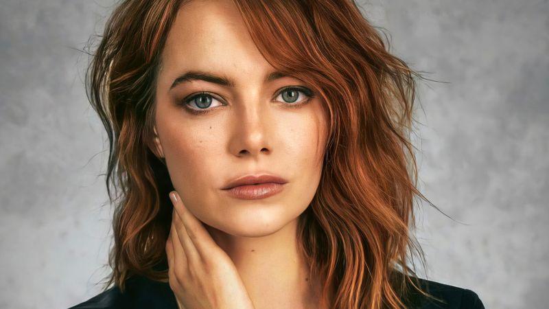 Emma Stone, American actress, Beautiful actress, Wallpaper