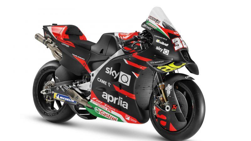 Aprilia RS-GP MotoGP, 2021, MotoGP bikes, White background, 5K, Wallpaper