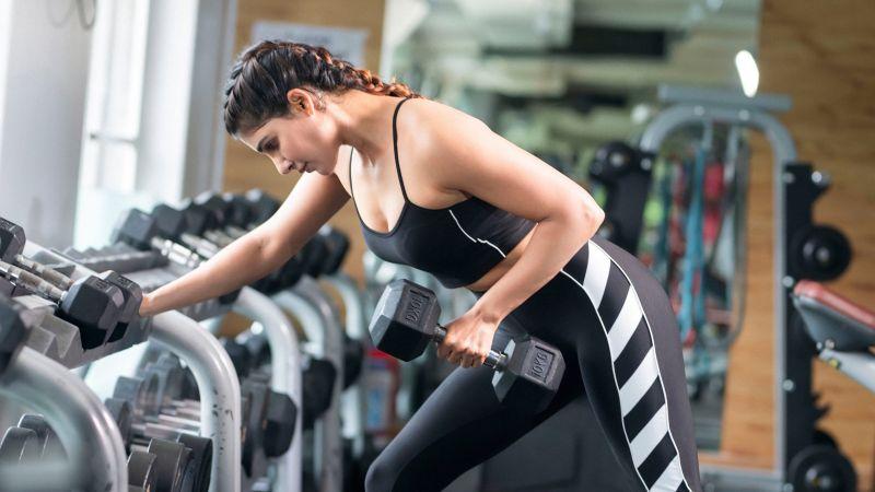 Samantha, Indian actress, Fitness, Workout, Zym, Weight lifting, Wallpaper