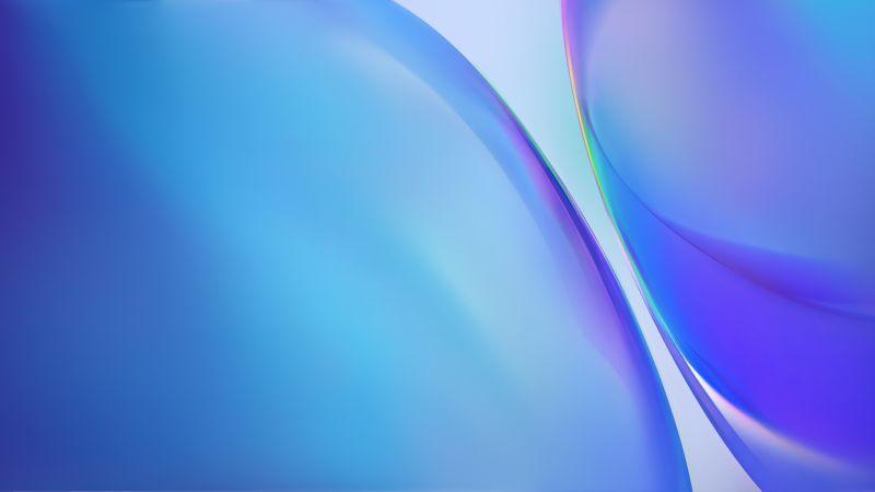 Android 10, Stock, Vivo NEX, Gradients, Blue, Wallpaper