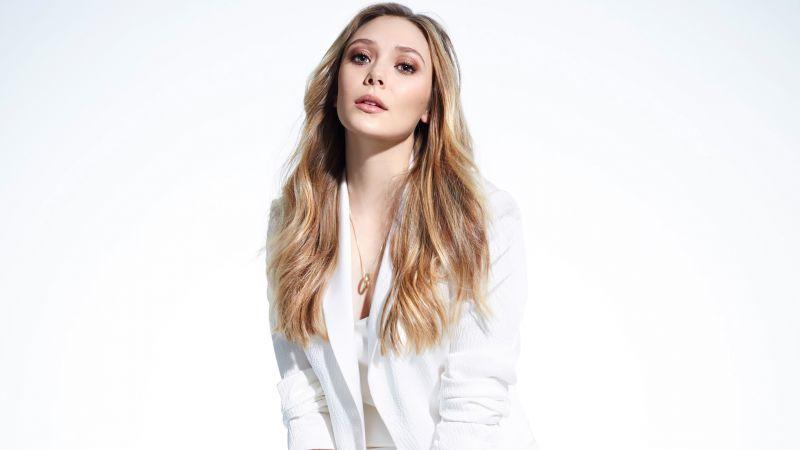 Elizabeth Olsen, White background, Wallpaper