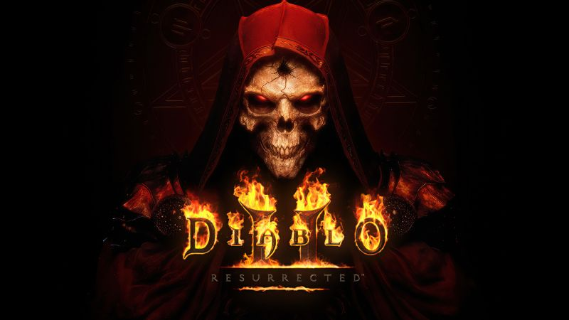 Diablo II: Resurrected, PC Games, Nintendo Switch, PlayStation 4, PlayStation 5, Xbox One, Xbox Series X and Series S, 2021 Games, Wallpaper
