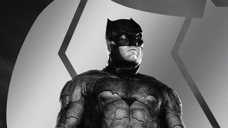 Zack Snyder's Justice League, Batman, DC Comics, Monochrome, 2021 Movies, Wallpaper