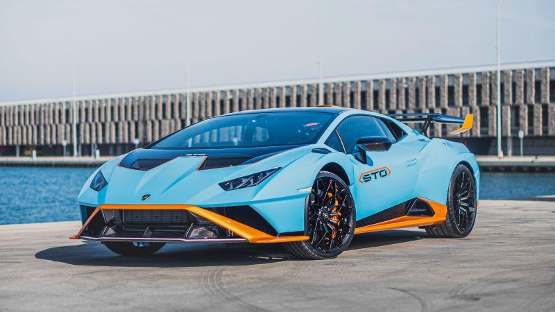 Lamborghini Huracán STO, 2021, Wallpaper