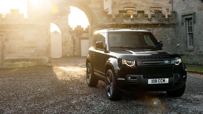 Land Rover Defender 90 V8 Carpathian Edition, Black cars, 2021, Wallpaper