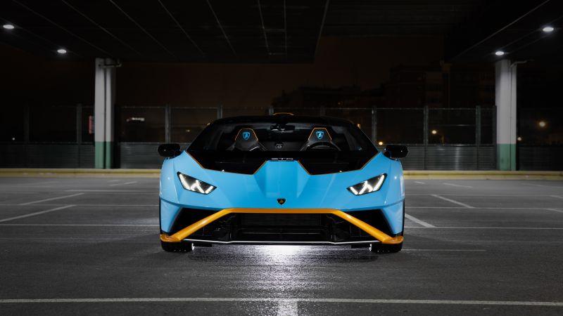 Lamborghini Huracán STO, 2021, 5K, 8K, Wallpaper