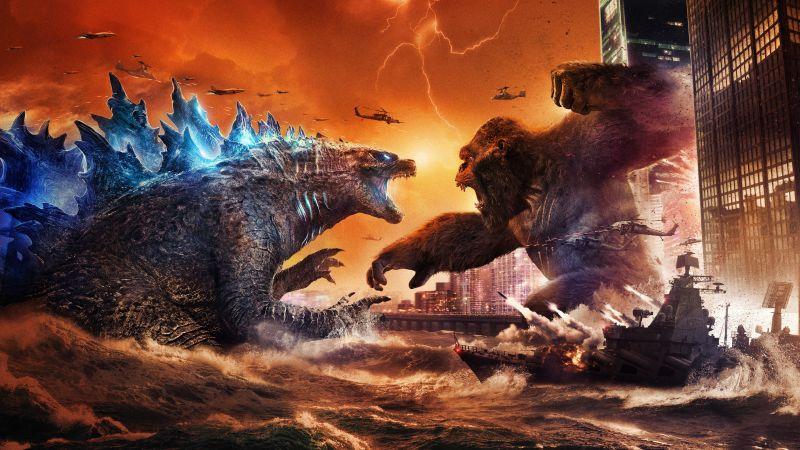 Godzilla vs Kong, 2021 Movies, 5K, Wallpaper