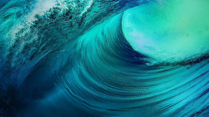 Ocean Waves, Stock, Vivo NEX, Android 10, Wallpaper