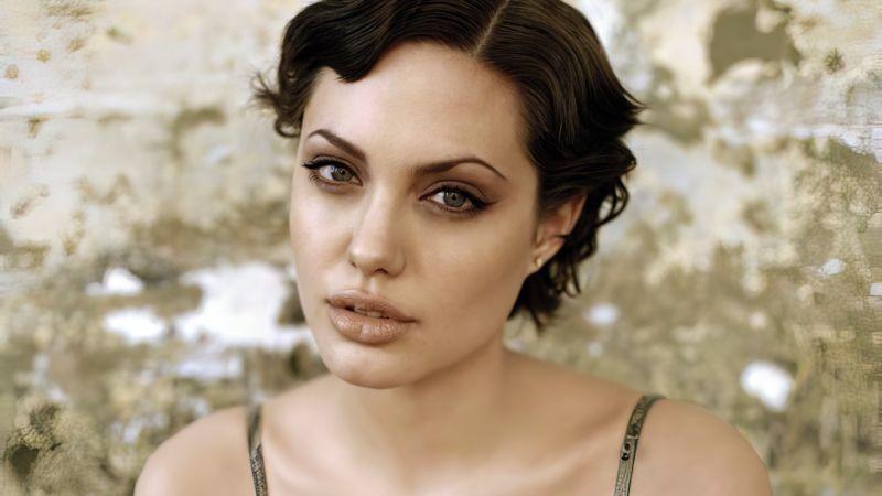 Angelina Jolie, American actress, Beautiful actress, 5K, Wallpaper