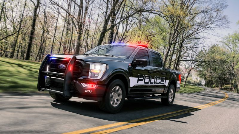 Ford F-150 Police Responder, 2021, 5K, Wallpaper