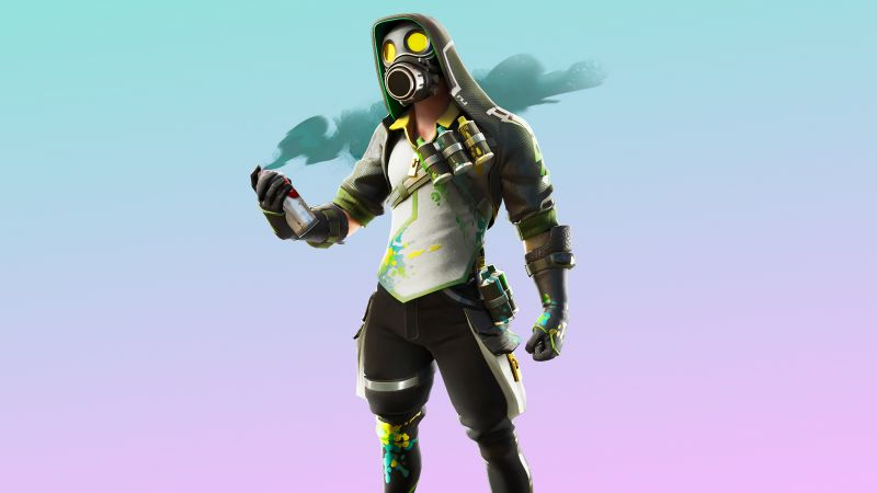 Fortnite, Toxic Tagger, Outfit, Skin, Wallpaper