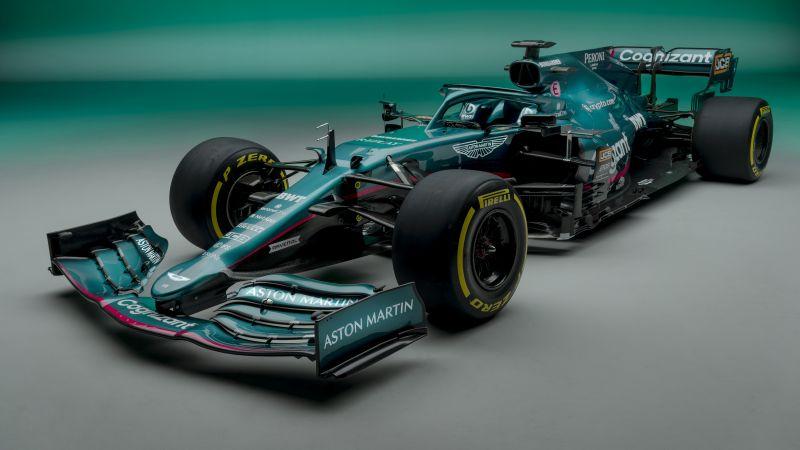 Aston Martin AMR21, F1 2021, F1 Cars, 2021 Formula One World Championship, Racing cars, Race track, 2021, 5K, 8K, Wallpaper