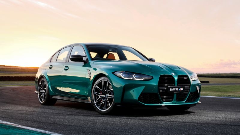 BMW M3 Competition, 2021, Tarmac, 5K, Wallpaper
