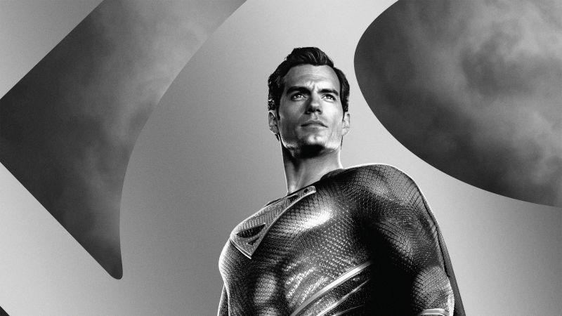 Zack Snyder's Justice League, 2021 Movies, Superman, Clark Kent, Henry Cavill, DC Comics, DC Superheroes, Monochrome, Wallpaper