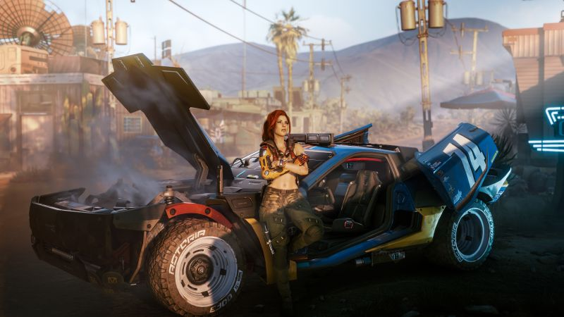 Cyberpunk 2077, Female V, PlayStation 4, Google Stadia, PlayStation 5, Xbox One, Xbox Series X and Series S, PC Games, Wallpaper