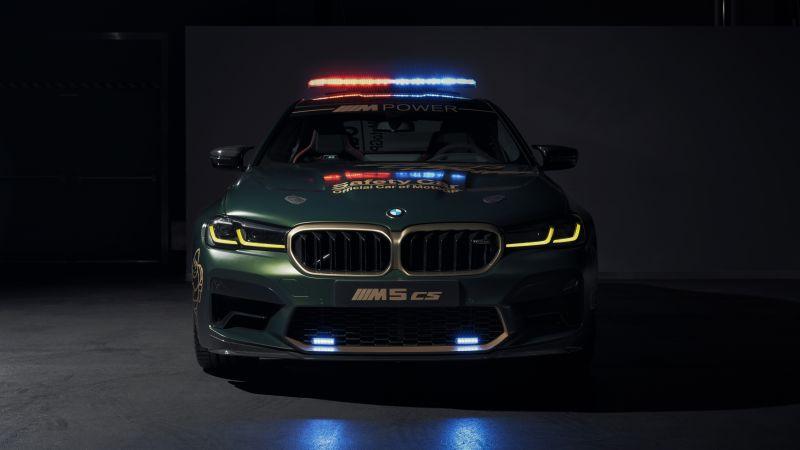 BMW M5 CS, MotoGP Safety Car, 2021, Dark background, 5K, 8K, Wallpaper