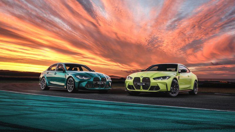 BMW M4, BMW M3, 2021, 5K, Wallpaper