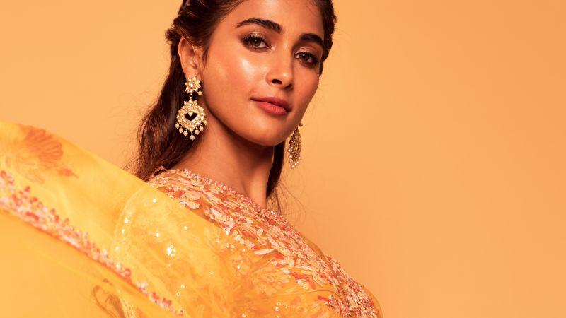 Pooja Hegde, Indian actress, Bollywood actress, Beautiful actress, 5K, Wallpaper