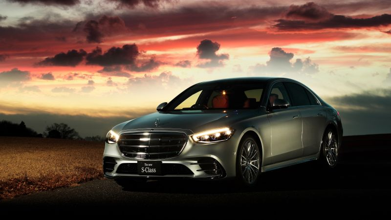 Mercedes-Benz S-Class, Mercedes-Benz S 500 4MATIC AMG Line, 2021, 5K, Wallpaper